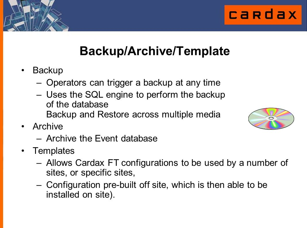 Backup/Archive/Template