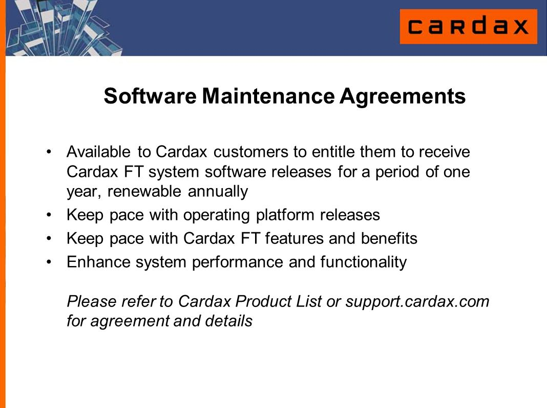 Software Maintenance Agreements