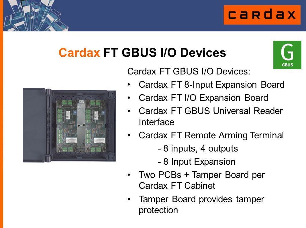 Cardax FT GBUS I/O Devices