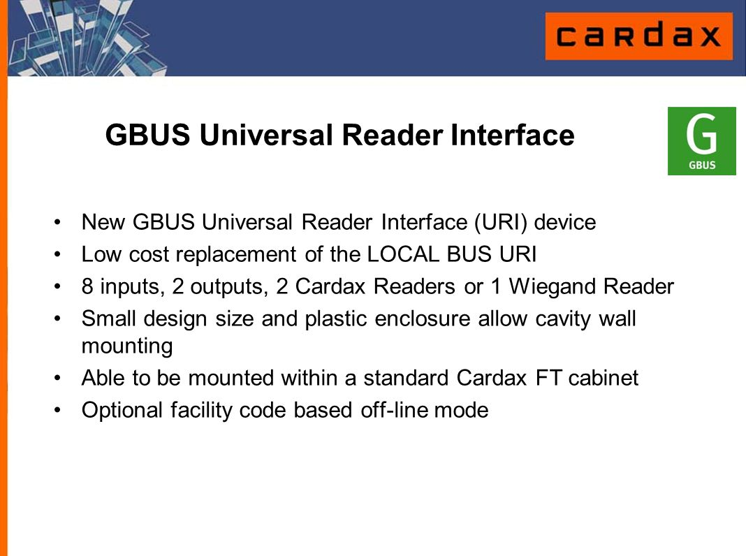GBUS Universal Reader Interface