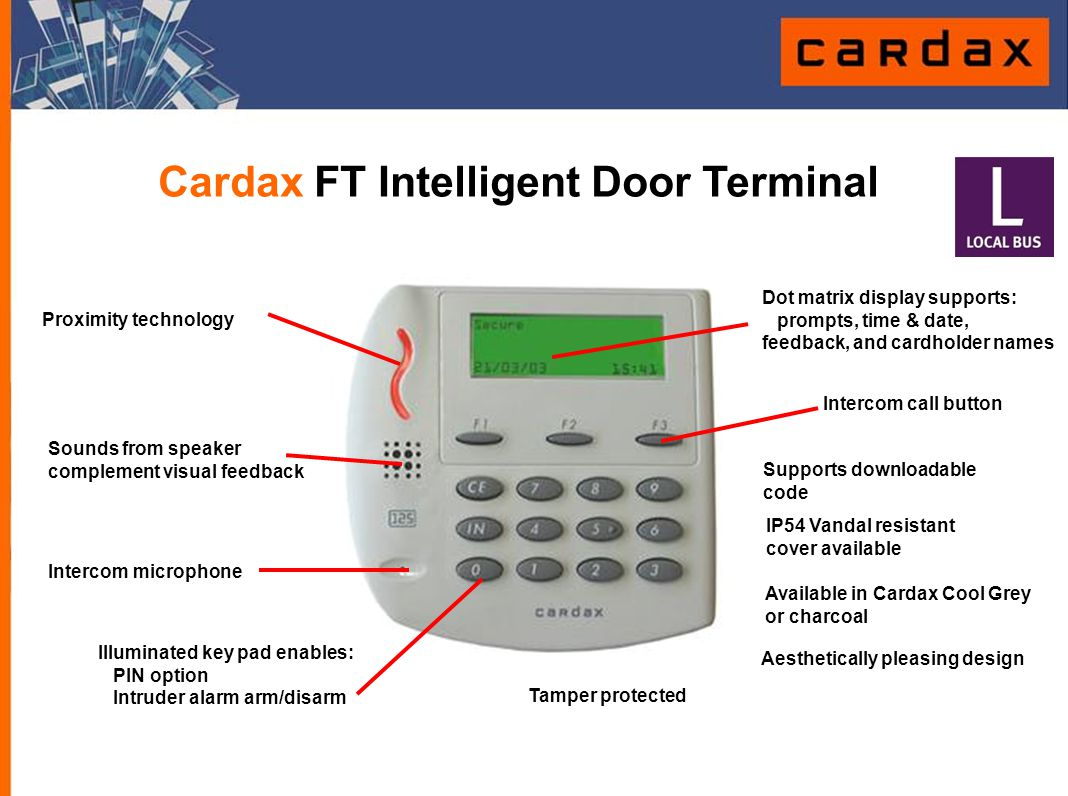 Cardax FT Intelligent Door Terminal