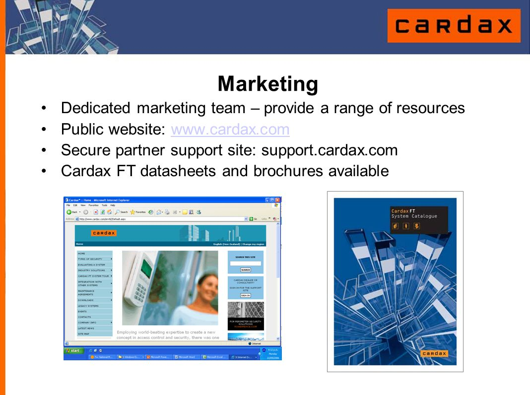 Marketing Dedicated marketing team – provide a range of resources