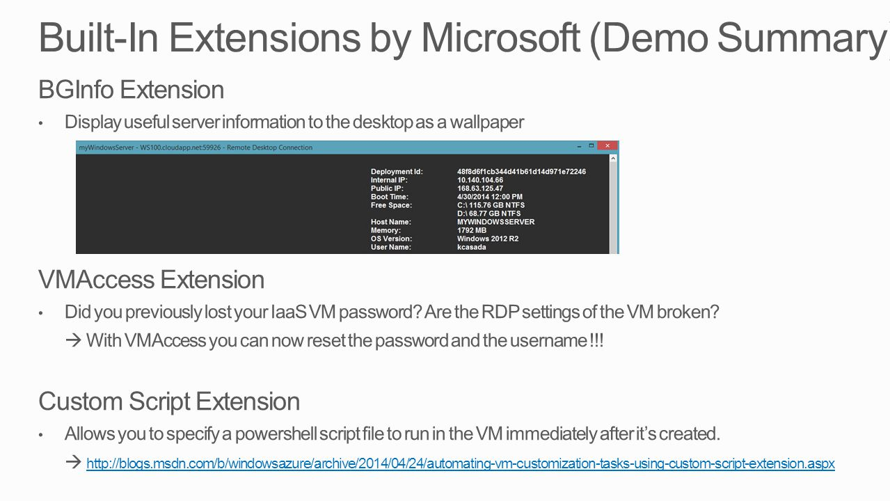 Built-In Extensions by Microsoft (Demo Summary)