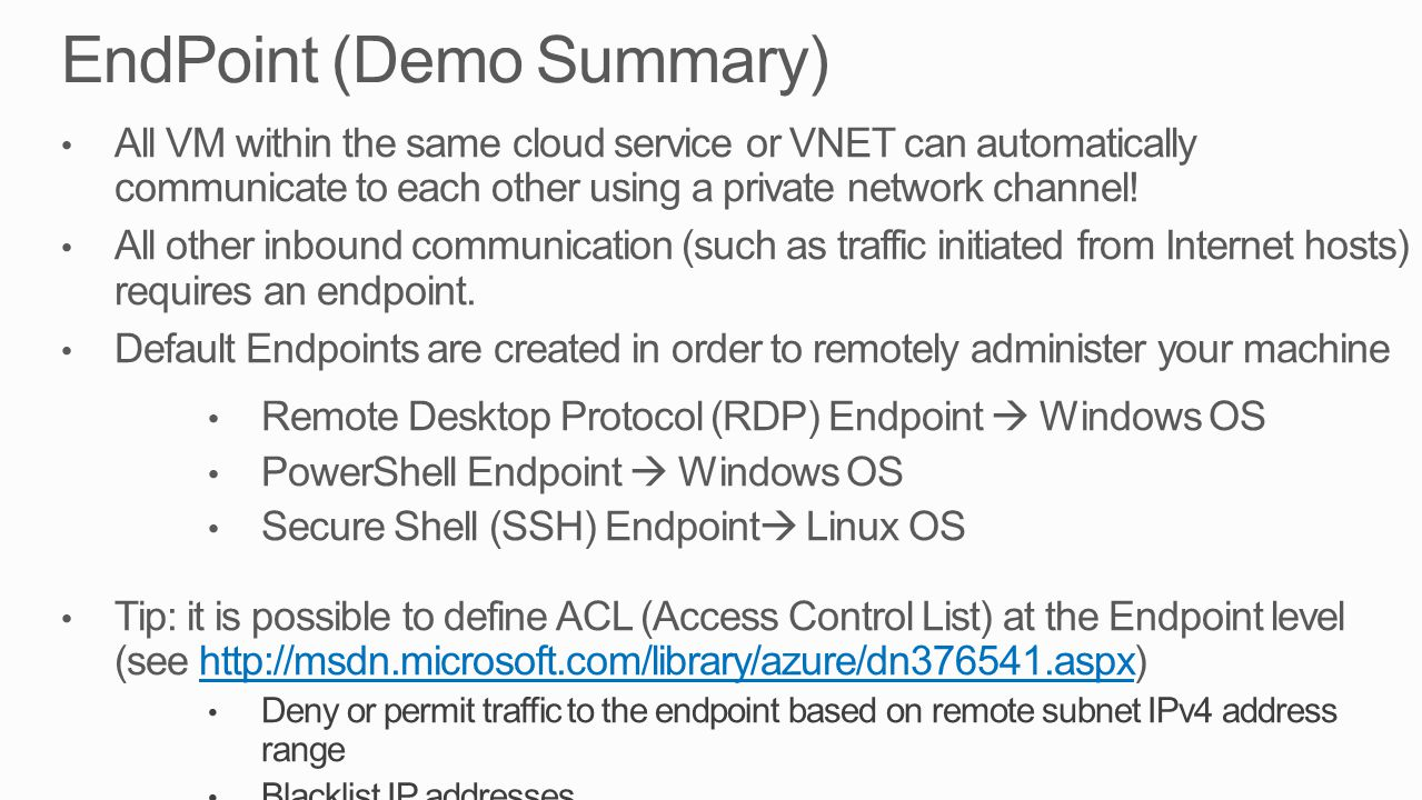 EndPoint (Demo Summary)