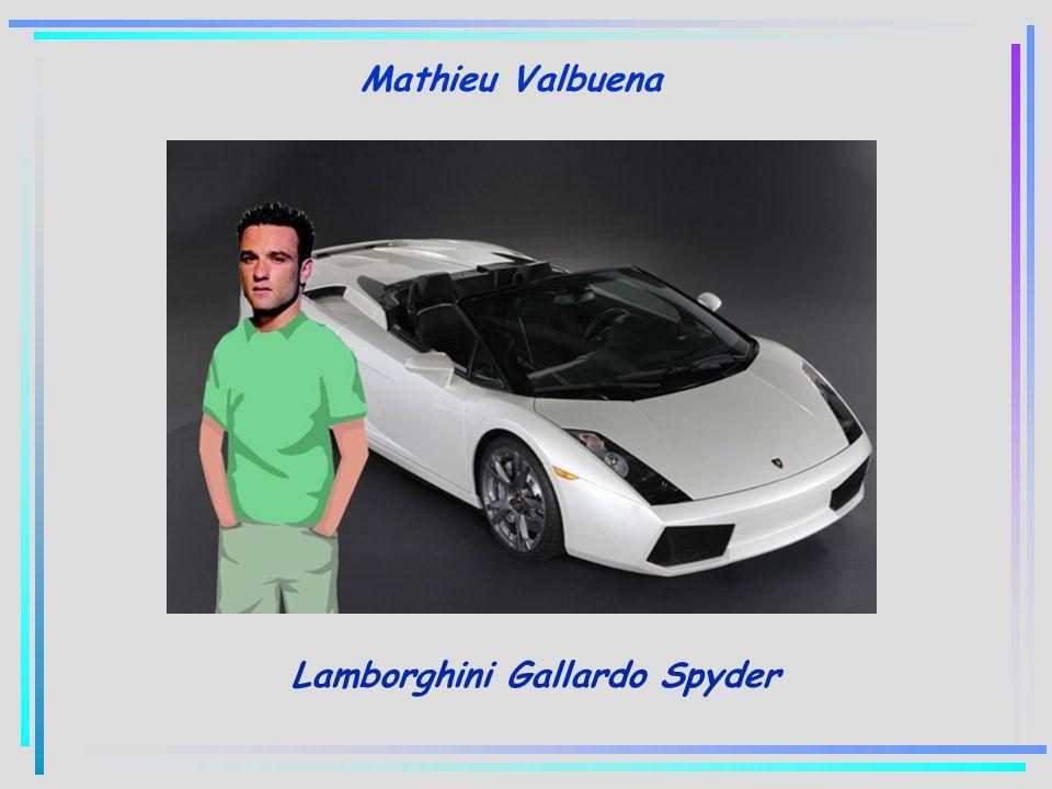 Mathieu Valbuena Lamborghini Gallardo Spyder