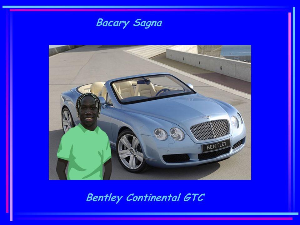 Bacary Sagna Bentley Continental GTC