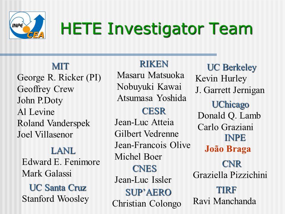 HETE Investigator Team