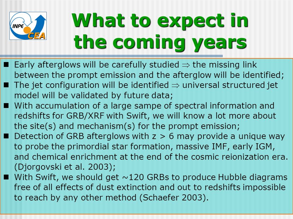 What to expect in the coming years