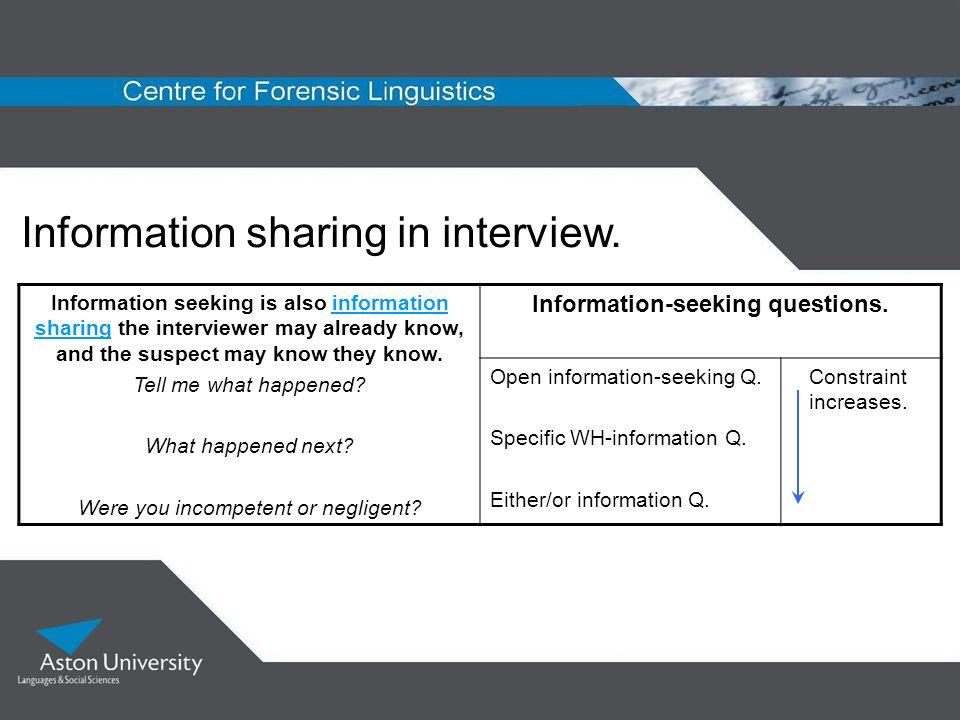 Information-seeking questions.