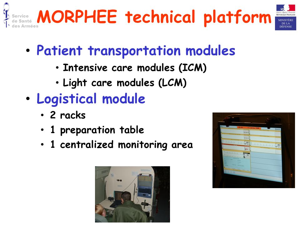 MORPHEE technical platform