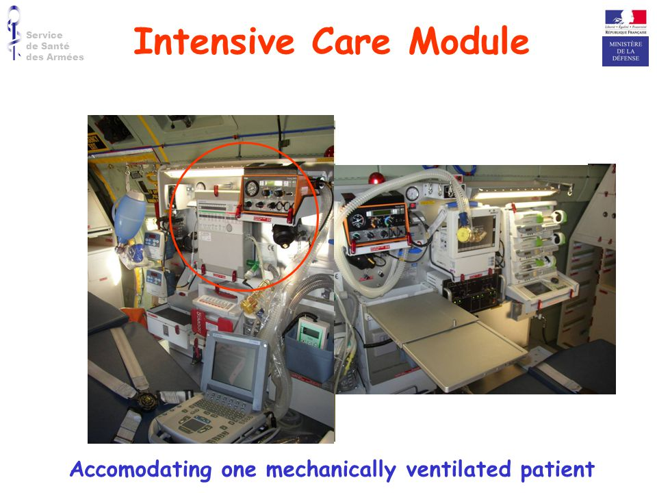 Accomodating one mechanically ventilated patient