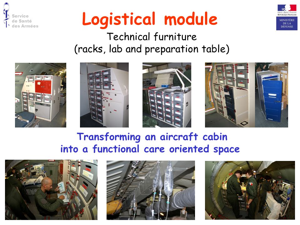 Transforming an aircraft cabin into a functional care oriented space