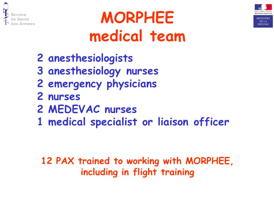 12 PAX trained to working with MORPHEE, including in flight training