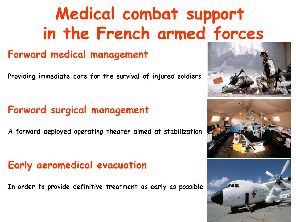 Medical combat support in the French armed forces