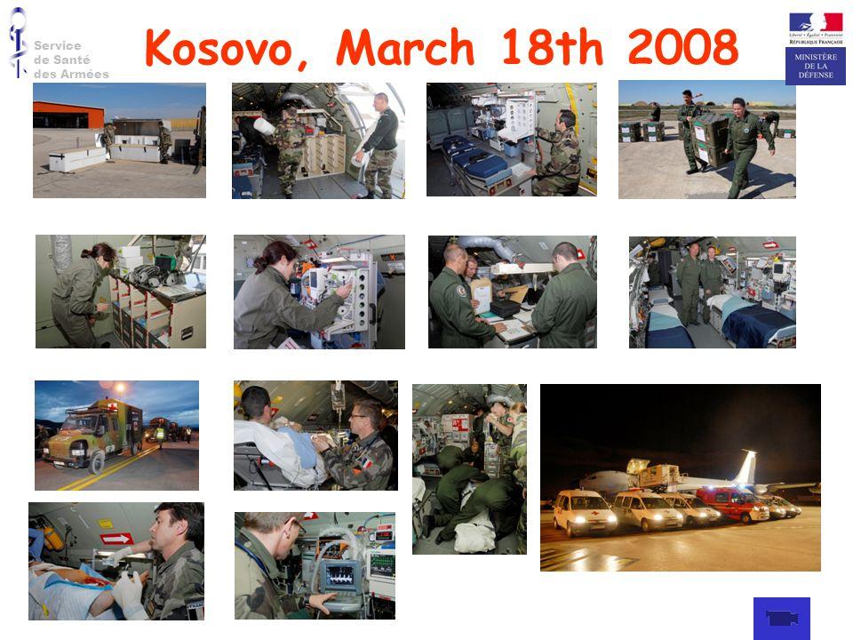 Service de Santé des Armées Kosovo, March 18th 2008