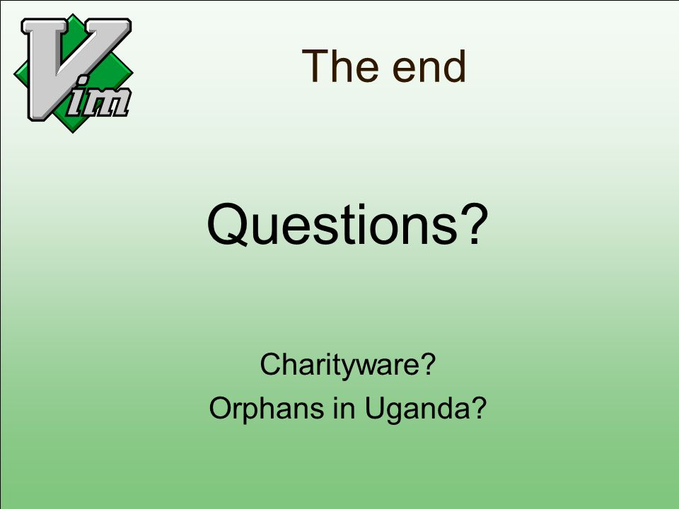 Questions The end Charityware Orphans in Uganda