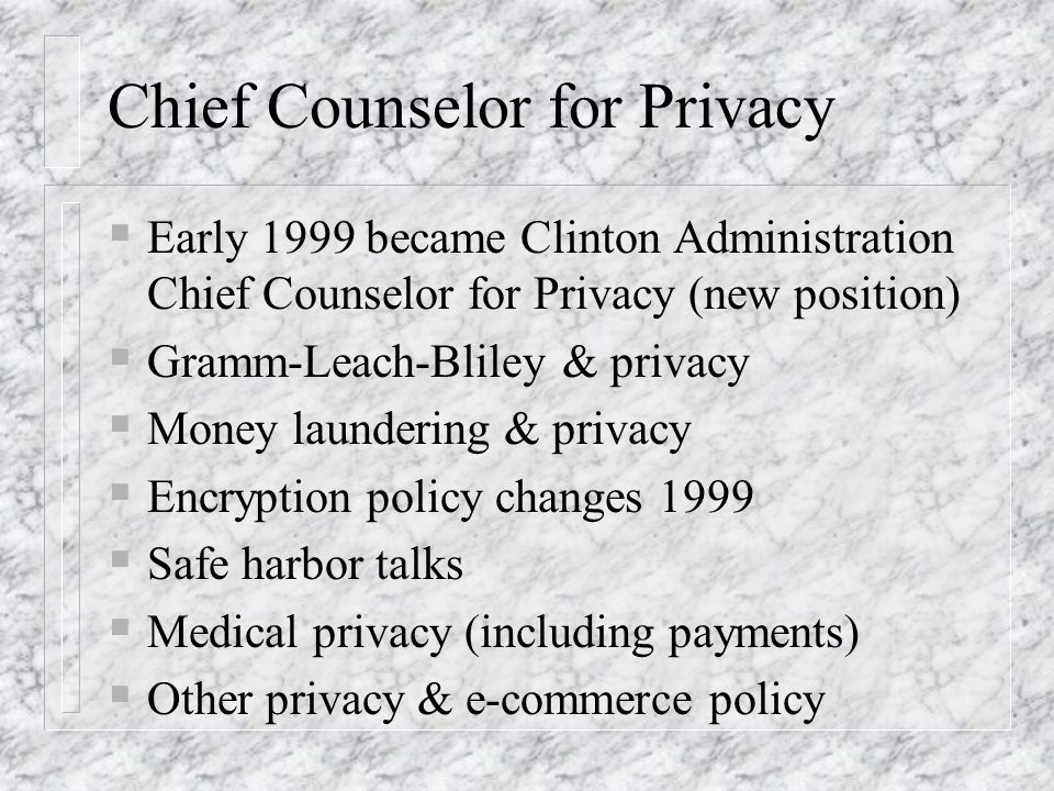 Chief Counselor for Privacy