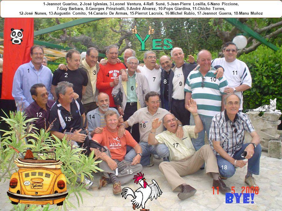 1-Jeannot Guarino, 2-José Iglesias, 3-Leonel Ventura, 4-Rafi Suné, 5-Jean-Pierre Losilla, 6-Nano Piccione,