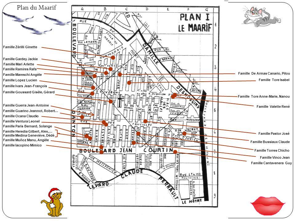 Plan du Maarif Famille Zérilli Ginette Famille Gardey Jackie