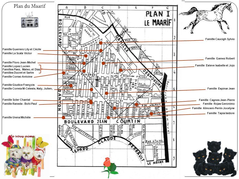 Plan du Maarif Famille Caucigh Sylvio Famille Guerrero Lily et Cécile