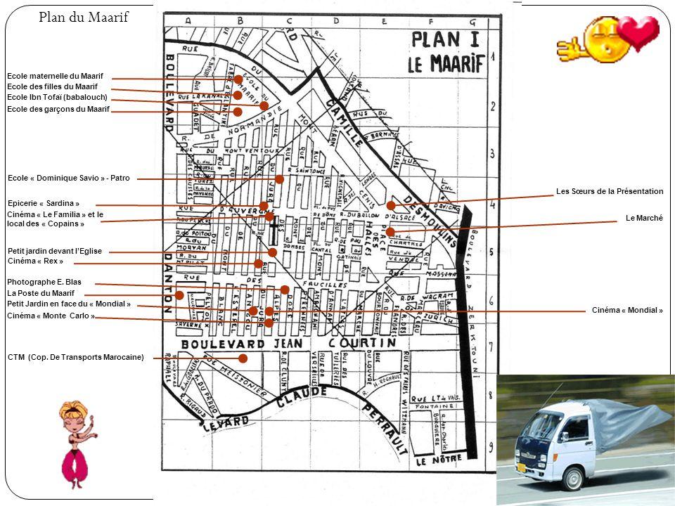 Plan du Maarif Ecole maternelle du Maarif Ecole des filles du Maarif
