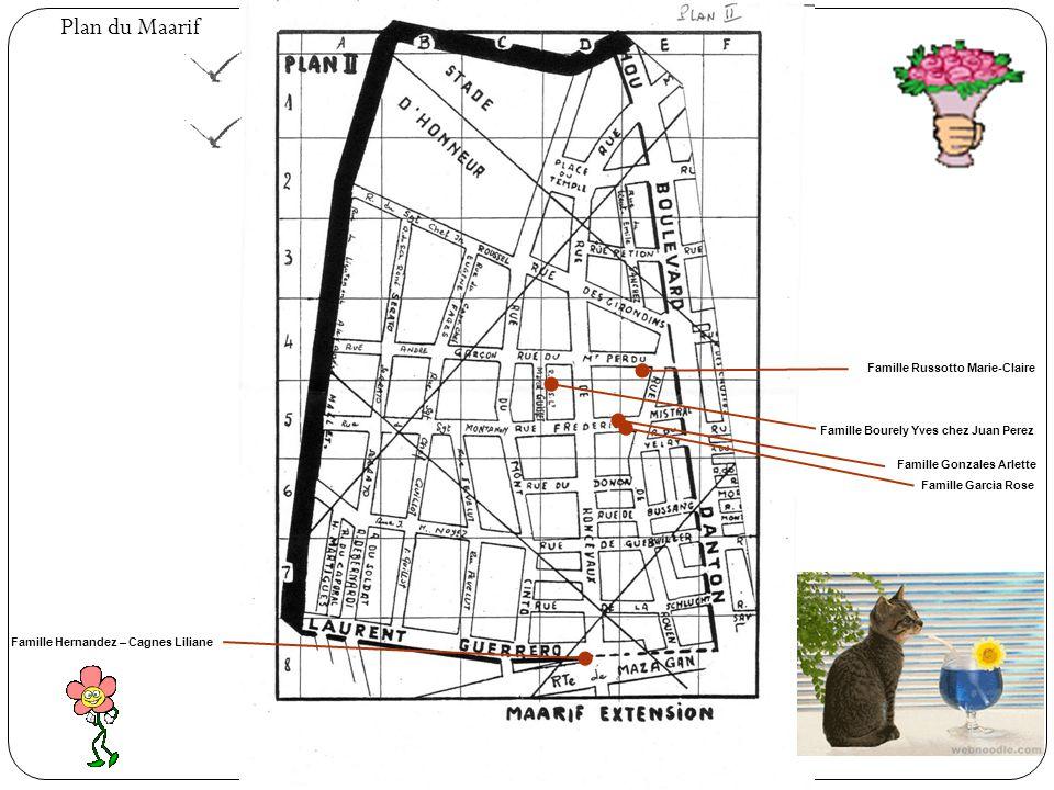 Plan du Maarif Famille Russotto Marie-Claire