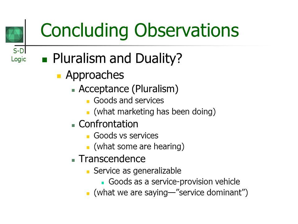 Concluding Observations