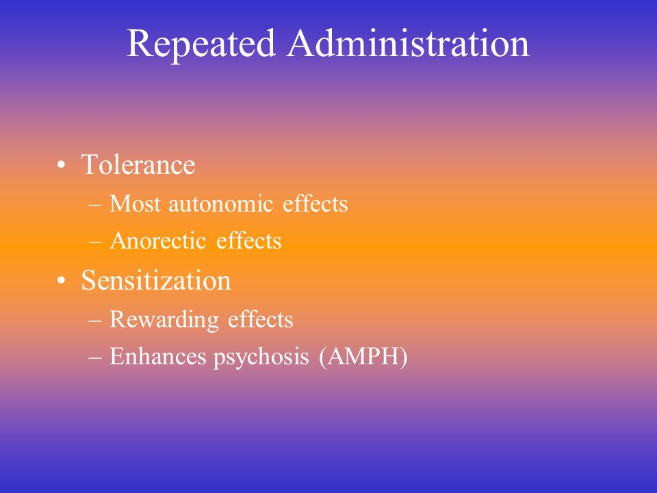 Repeated Administration