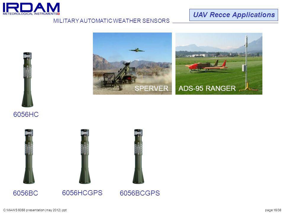 UAV Recce Applications