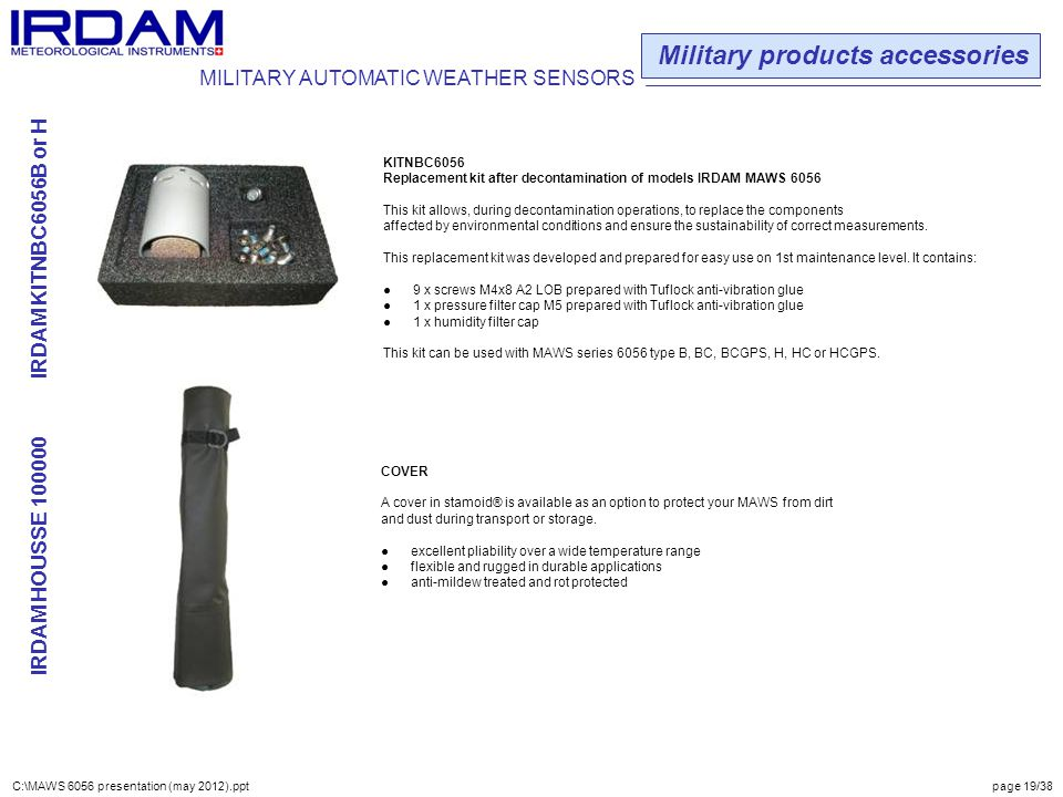 Military products accessories