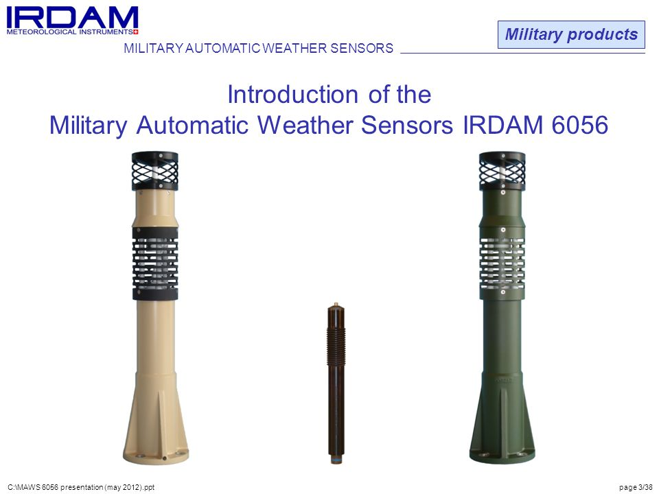 Military Automatic Weather Sensors IRDAM 6056