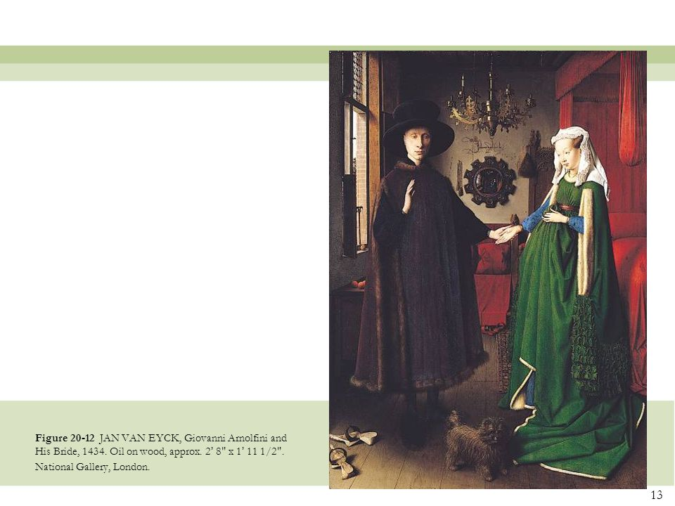 Figure 20-12 JAN VAN EYCK, Giovanni Arnolfini and His Bride, 1434