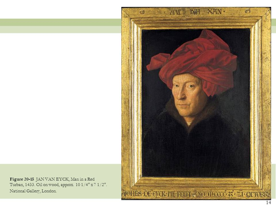 Figure 20-15 JAN VAN EYCK, Man in a Red Turban, 1433
