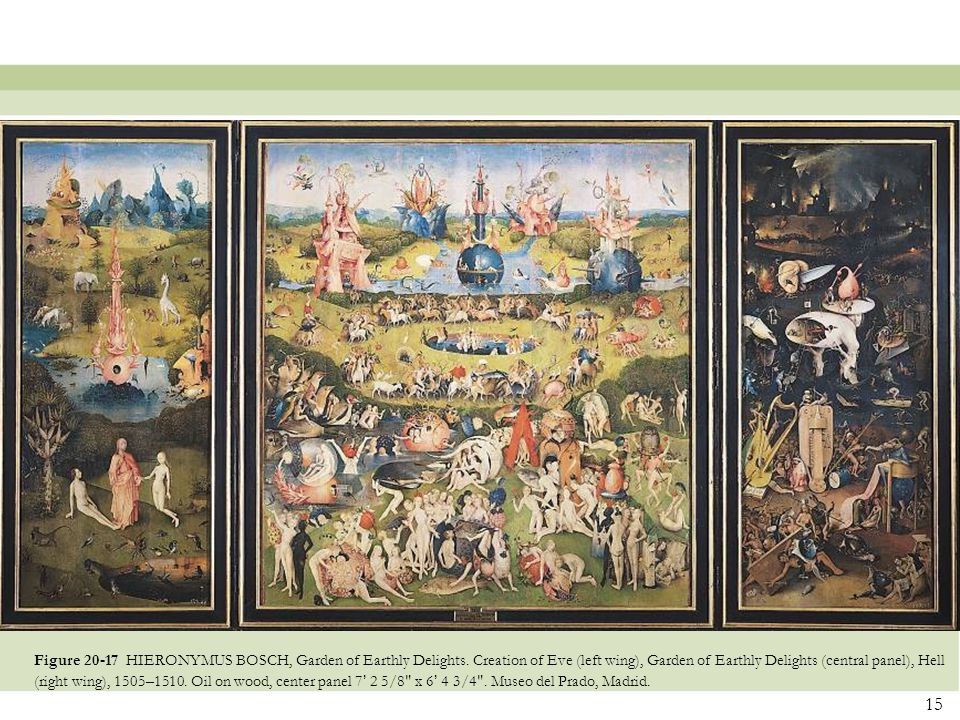 Figure 20-17 HIERONYMUS BOSCH, Garden of Earthly Delights
