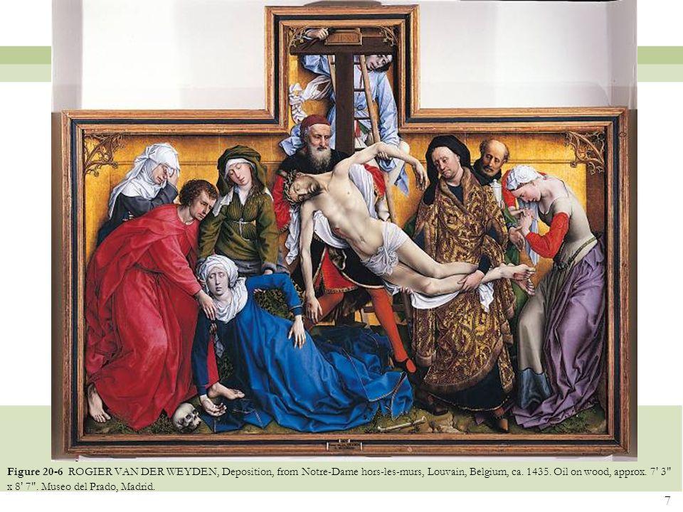 Figure 20-6 ROGIER VAN DER WEYDEN, Deposition, from Notre-Dame hors-les-murs, Louvain, Belgium, ca.