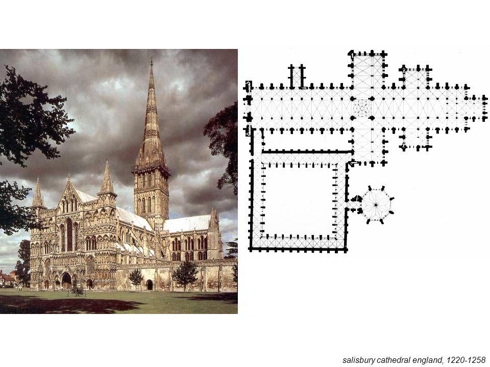 salisbury cathedral england, 1220-1258