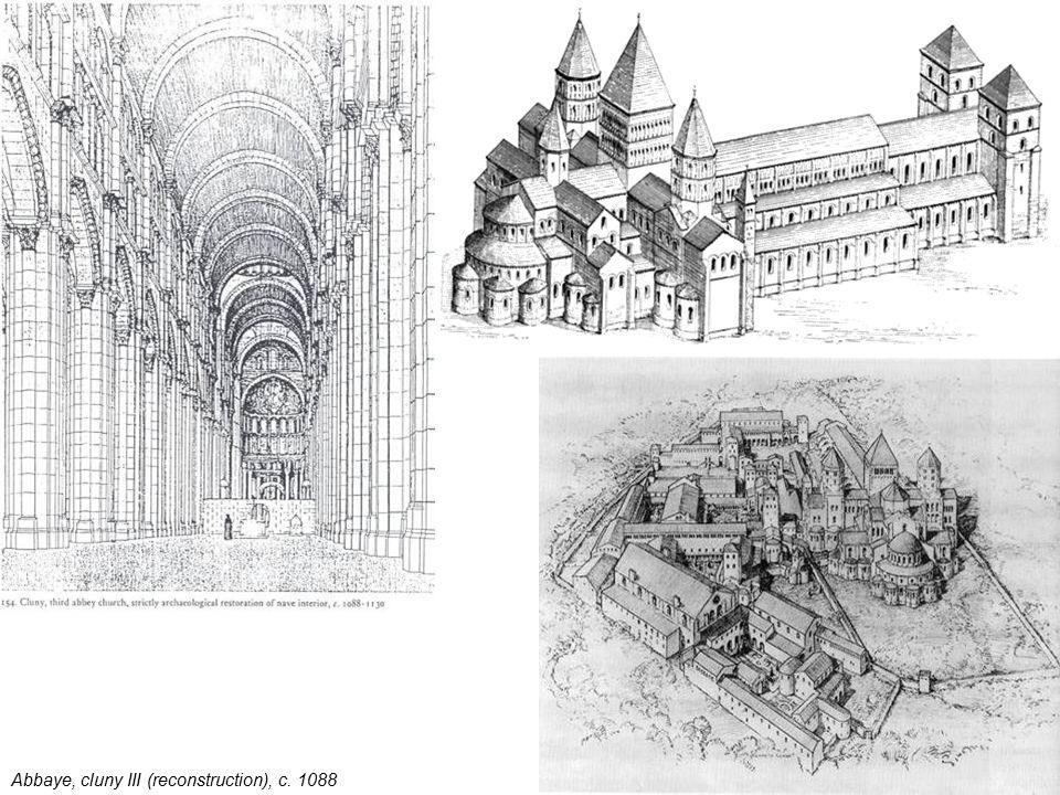 Abbaye, cluny III (reconstruction), c. 1088