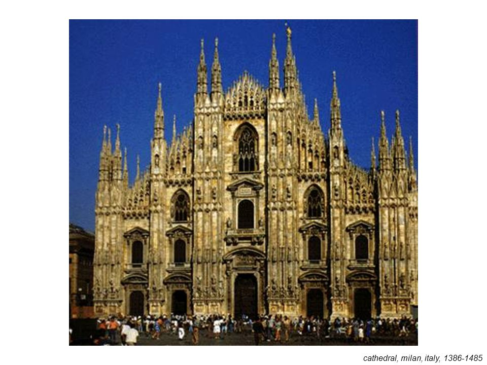 cathedral, milan, italy, 1386-1485