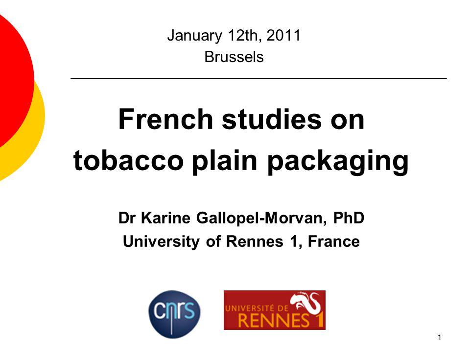 Dr Karine Gallopel-Morvan, PhD University of Rennes 1, France