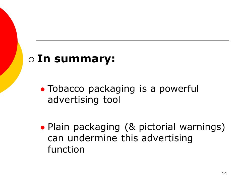 In summary: Tobacco packaging is a powerful advertising tool