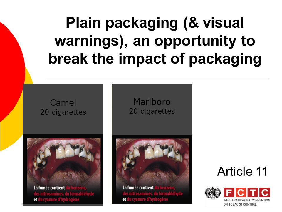 Plain packaging (& visual warnings), an opportunity to break the impact of packaging