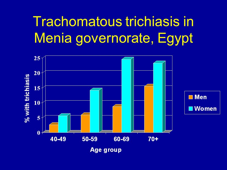 Trachomatous trichiasis in Menia governorate, Egypt