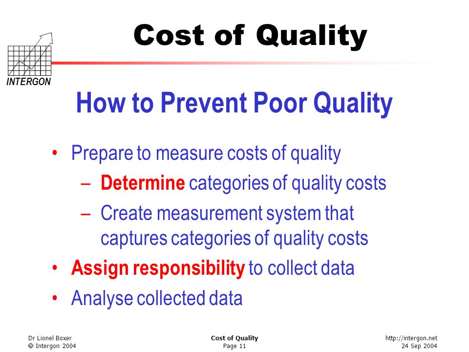 How to Prevent Poor Quality