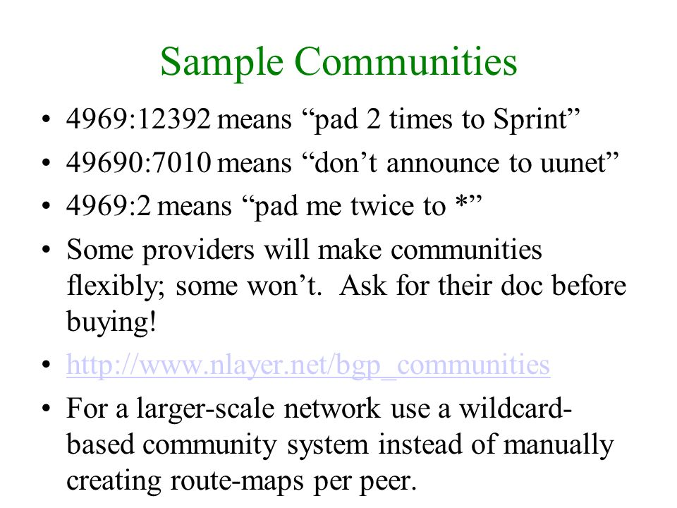 Sample Communities 4969:12392 means pad 2 times to Sprint
