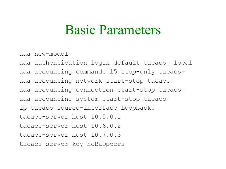 Basic Parameters aaa new-model