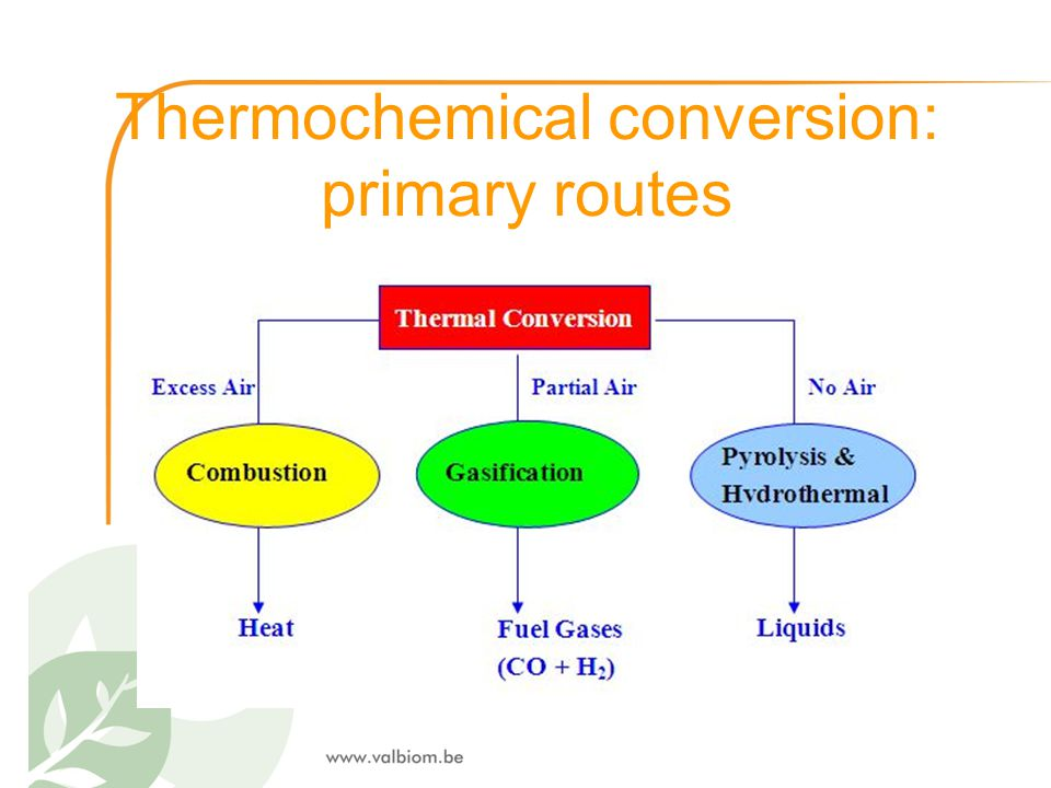 Thermochemical conversion: primary routes
