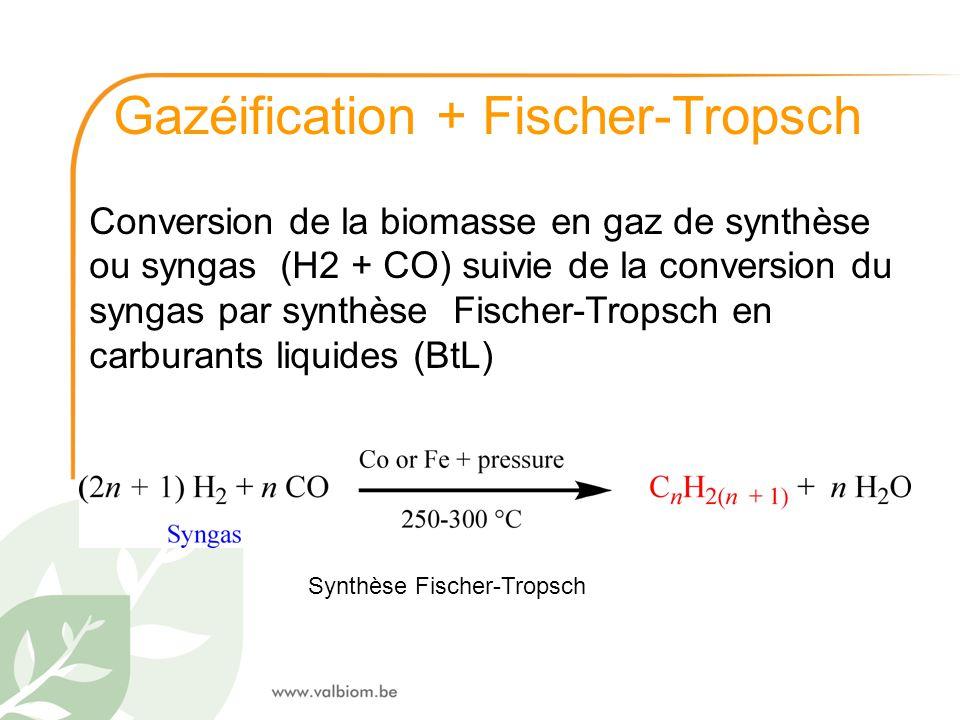 Gazéification + Fischer-Tropsch