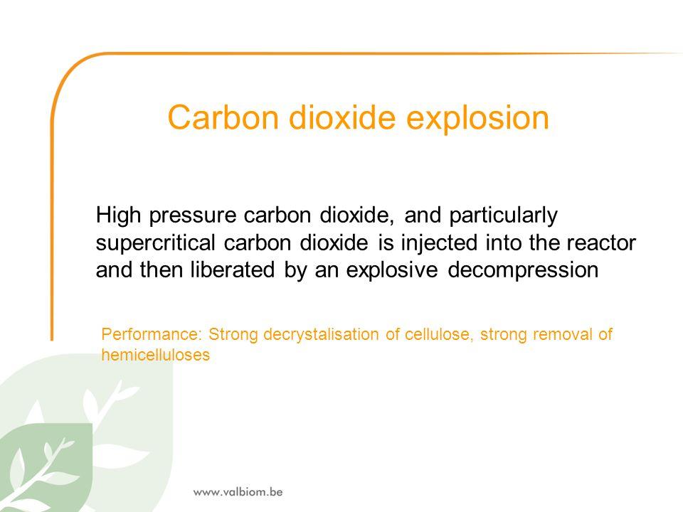 Carbon dioxide explosion