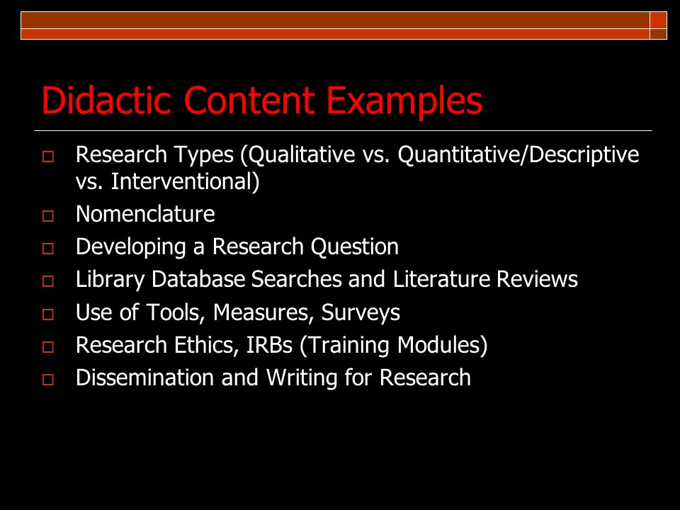 Didactic Content Examples