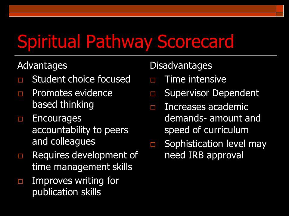 Spiritual Pathway Scorecard